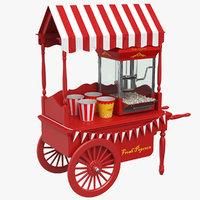 Classic Popcorn Cart