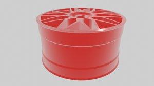 3D hre type wheels model