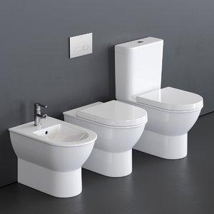 close darling new toilet 3D model