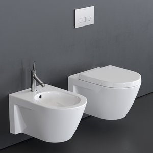3D starck 2 toilet wall-hung