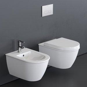 darling new wall-hung toilet 3D