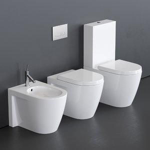 close starck 2 toilet 3D model
