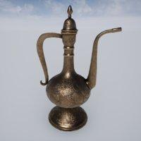 asian copper jug 3D