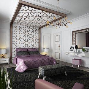 3D model classic bedroom