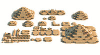 3D mega pack piramide 16k model