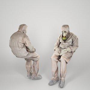 3D liquidator nuclear chernobyl model