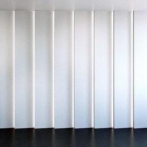 3D model wall panel set 100