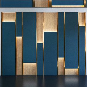3D wall panel set 97 model