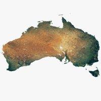 australia continent world 22k 3D model