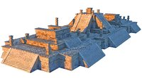 3D piramide xochicalco scan 16k