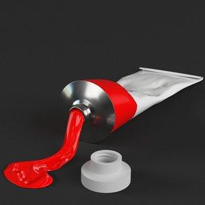 paint tube open 3D model