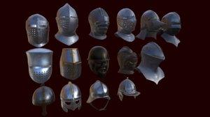 helmet helm medieval 3D model
