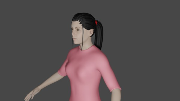 3D beautiful rigged female model