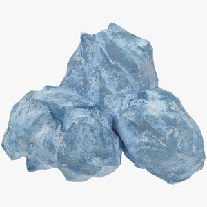 ice boulders 3D model
