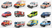 12 Low Poly European Emergency vol1