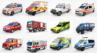 12 Low Poly European Emergency vol1