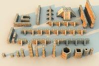 Xochicalco Wall Columns Mega Pack