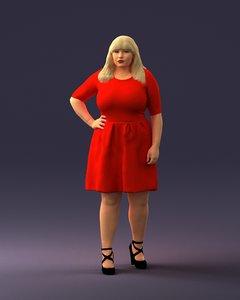 3D woman female charact