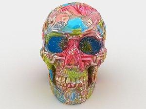 3D cartoon skull