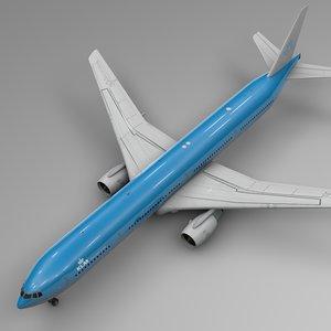 3D klm boeing 777-300er l546