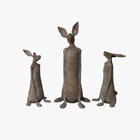 3D sculpture rabbit