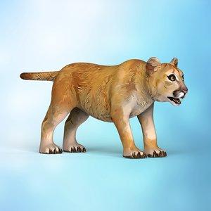 lion baby cartoon model