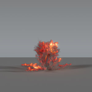 explosion ground 3D model