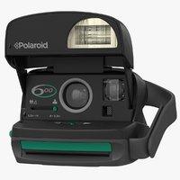realistic polaroid film camera model