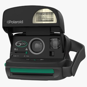 realistic polaroid film camera model