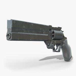 revolver pbr 3D model