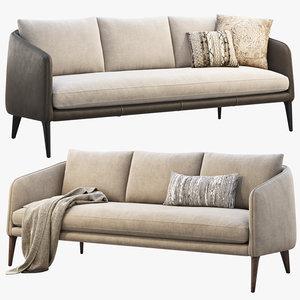 3D rhys bench seat sofas model