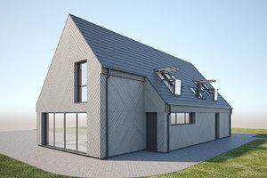 modern scandinavian house 3D model