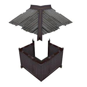 balcony metais 01 32 3D model