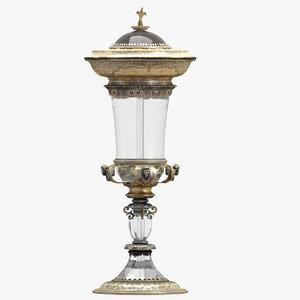 3D decoration 20 gold cup