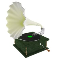 Old Gramophone Music Player