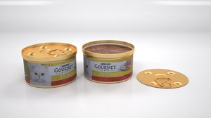 3D purina gourmet mousse beef