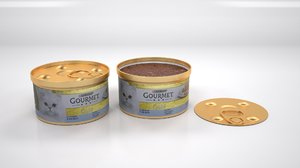 purina gourmet mousse tuna 3D