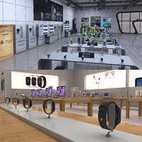 3D model electronics stores