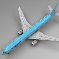 korean air boeing 777-300er 3D model