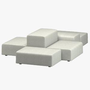 divani extrawall sofa 3D