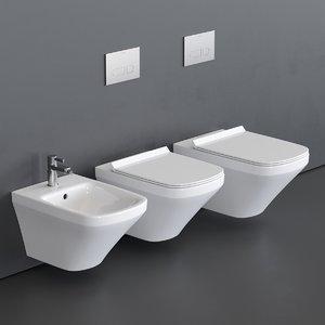 toilet durastyle wall-hung bidet model