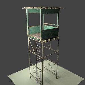 3D hunting tower