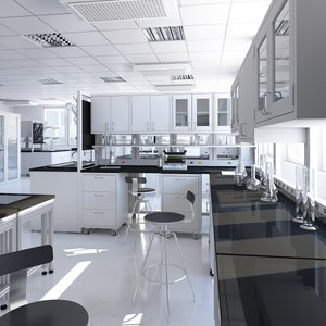 3D laboratory carefully model