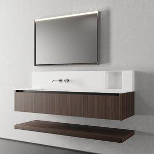 3D model nerolab vanity unit drawers