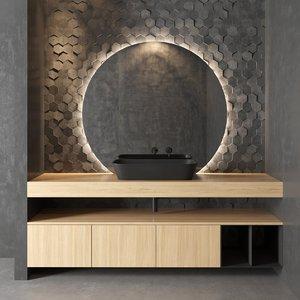 nerolab wood veneer vanity model