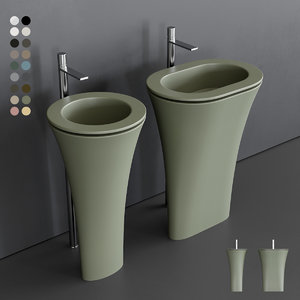 3D karim amedeo freestanding washbasin model