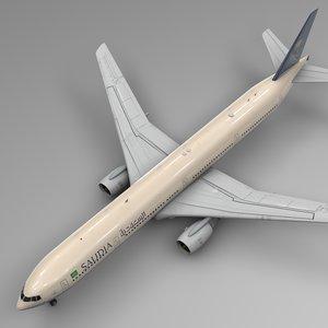 saudia boeing 777-300er l552 3D model