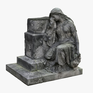 3D woman tomb monument