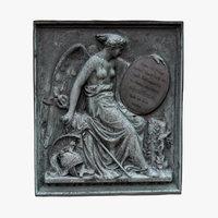 3D relief angel sword