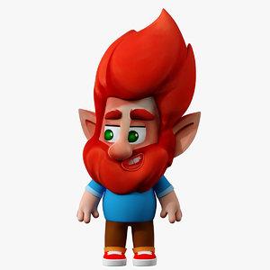 gnome casual cartoon model
